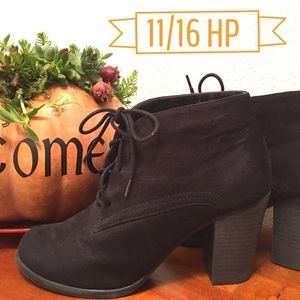 Black Ankle Booties • updated pics
